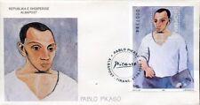 Albania stamps 2000. Pablo Picasso. Art Picture. FDC Block MNH. Michel Block 126