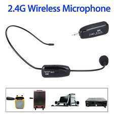 2.4Ghz Wireless Microphone Headset + 3.5 plug Receiver Plug and play For Speaker