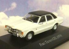 DIECAST 1/43 1974 FORD TAUNUS GXL (CORTINA MK3) WHITE/CREAM WITH BLACK ROOF