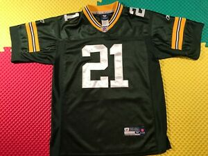 Charles Woodson Green Bay Packers Reebok OnField Sewn Green Jersey Youth Size M