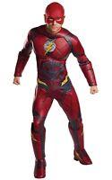 Justice League Mens Deluxe Flash Adult Dc Superhero Halloween Costume