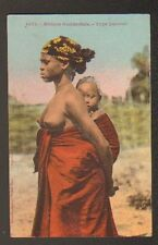 ETHNIQUE (AFRIQUE OCCIDENTALE) FEMME SAUSSAI, BEBE 1935