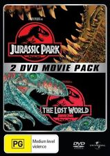Jurassic Park Double Pack (DVD, 2000, 2-Disc Set) PRE OWNED PAL 4