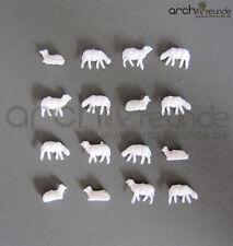 10 x  Modell Schafe weiß für Bauernhof  Modellbau 1:200 Modelleisenbahn Spur Z