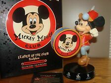 """Disney MICKEY MOUSE CLUB LE 1955 Figurine """"LEADER OF THE CLUB"""" Band Leader *NEW"""