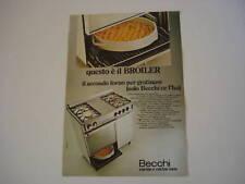 advertising Pubblicità 1974 CUCINE BECCHI
