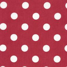 AU MAISON Wachstuch Dots Giant Red Rote Punkte beschichtete Baumwolle 0,5 Meter