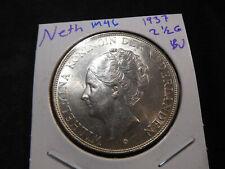 M46 Netherlands 1937 2 1/2 Gulden BU