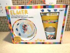 Elmer The patchwork elephant 5 Pc Melamine Dinnerware Set Free Shipping