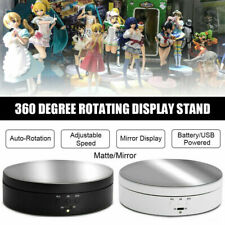 UK 360 Degree Electric Rotating Turntable Display Stand Jewelry Show Holder Hot