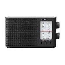 Original Sony ICF-19 AM/FM Radio Portable Dual Band Analog Speaker Black Battery