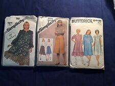 Size Miss 6-8 Sewing Patterns Lot of 3, Simplicity 9798 & 5161 & Butterick 4198
