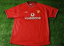 MANCHESTER UNITED ENGLAND 2000/2002 FOOTBALL SHIRT JERSEY HOME UMBRO ORIGINAL