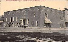 C11/ Lohrville Iowa Ia Postcard c1910 Baird's Cold Storage & Produce Company