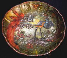 Vintage Japanese Painted Metal Plate