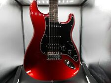 Fender Squier Standard Strat Candy Apple Red & Black with Audio Cable & Gig Bag