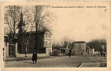 CPA   Fontaines-sur-Saone (Rhone) -Station du Tramway  (451077)