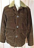 Kirra Womens Brown Corduroy Faux Sherpa Lined Jacket Coat SZ S (NO Size TAG)