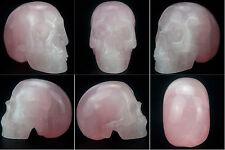 Crâne de Cristal en Quartz Rose, Lithotherapie, Meditation, Decoration