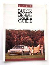 1988 Buick Trailer Tow Guide Brochure - Regal Estate Wagon Century LeSabre
