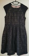 Forever 21 Black Lace Dress (with Pale Pink Underlay)