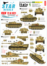 Star Decals 1/72 GERMAN TANKS IN ITALY Part 1 SICILY 1943