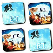 ET The Extra Terrestrial Movie - Steven Spielberg - Set of 4 - Wood Coasters