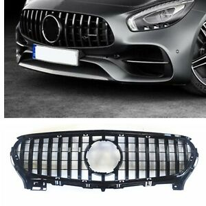 2 DOOR Front Grille Grill For 2015-2016 MERCEDES BENZ R190 C190 AMG GT S 1PC