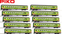 "Piko H0 58678-S Personenwagen ""Flixtrain"" Neuheit 2019 (10 Stück) - NEU + OVP"