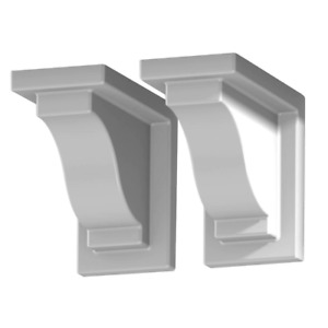 Mayne Yorkshire White Vinyl Decorative Brackets Attractive Durable 2 Pack New
