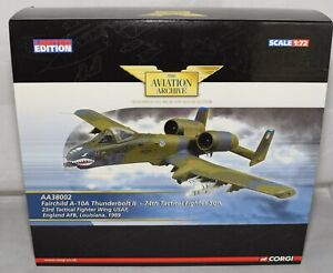 CORGI AVIATION ARCHIVE AA38002 FAIRCHILD A-10A THUNDERBOLT II 74TH 1:72 LTD ED