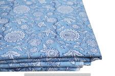 Indian Hand Block Print 10 Yard Dressmaking Cotton Fabric Craft Sewing Material