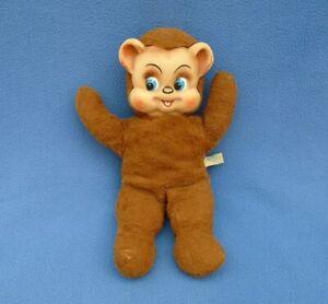 Vintage 1950's Knickerbocker Rubber Face Teddy Bear