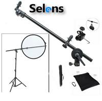 Studio Photo Reflector Boom Holder Arm with Swivel Head + 2m Light Stand Sandbag