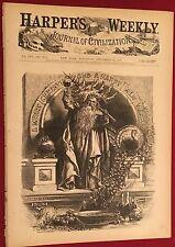 December 31,1870 -Harper's Weekly Vintage Magazine Santa Claus Christmas Cover