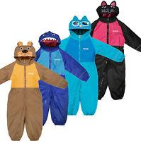 Regatta Mudplay II Kid's Fleece Lined Waterproof All-in-one Suit