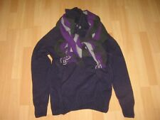 Wolsey Mens Jumper & Scarf. Colour: Purple/Grey - Size: Medium