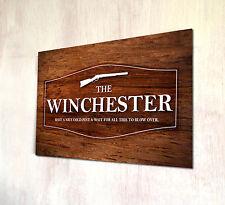 Il Winchester Shaun dell'effetto legno morto Film etichetta birra A4 metallo segno