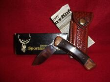 Vintage Browning pocket knife, NOS, model 3018F1, leather sheath, box & papers