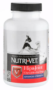 Hip Joint Advanced Strength Chewables for Dogs maximizes healthy joints 90ct