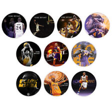 10pcs Kobe Bryant 999.9 Silver Plated Coin Set US Famous Person Challenge Coins