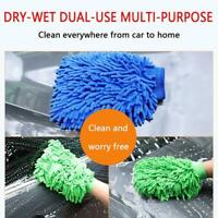 Car Wash Washing Microfiber Chenille Mitt Auto Cleaning Double Glove Dust Washer