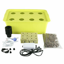 6 Plant Sites Hydroponic System Grow Kit Indoor Garden Cabinet Box Complete Set