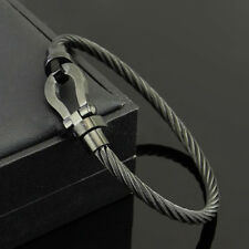 Trendy Men Stainless Steel Twist Cable Wire Bracelet Bangles Magnetic Jewelry