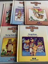 New ListingTeddy Ruxpin Bear Lot Of 5 Books Vintage Good Condition 1980'S