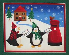 Makower Christmas Wish List fabric panel square quilt block crafting home decor
