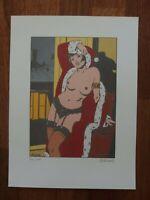 Varenne EROTIC Siebdruck limitiert signiert Weihnachten Dessous Strapse nude