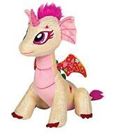 GlitterShine Dragons Plush Stuffed Toy Pink Sparkling Unicorn Dragon - 12 Inches