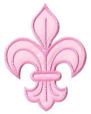 Patch écusson patche fleur de lys rose Pink medieval thermocollant