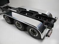 Pair Aluminum Tri Axle Fender + Mount Tamiya 1/14 R/C King Grand Knight Hauler